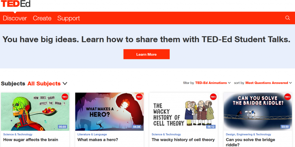Educational website created by teachers - How to make the most out of TED