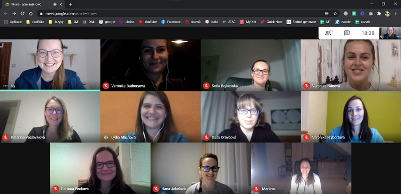 """The Language Mentoring team regularly meets on """"virtual wine"""" sessions where we celebrate our successes from the past month."""
